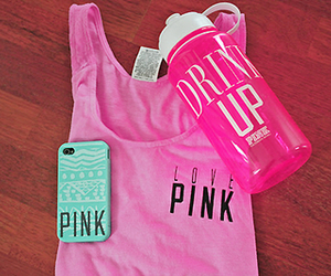 pink, Victoria's Secret, and fitness image