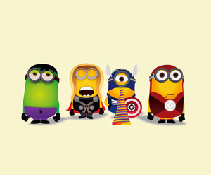 minions, Avengers, and thor image