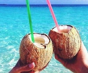 coconut, milk, and drinks image