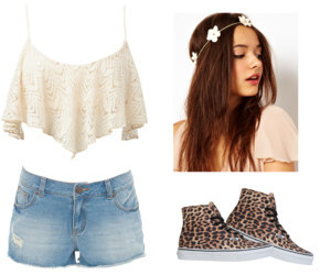 cream, leopard, and outfit image