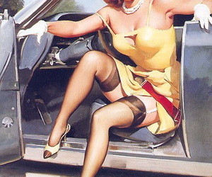 vintage and pin-up image