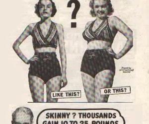 skinny, curves, and vintage image