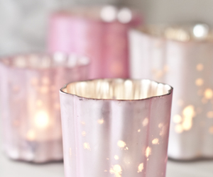 candles, light, and pink image