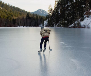 winter, ice, and skating image