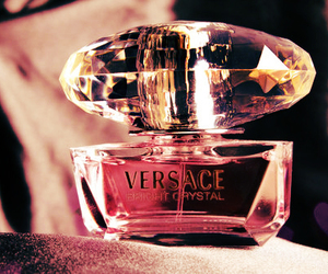 perfume, pink, and Versace image