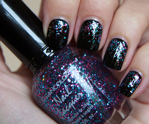 glitter, nails, and nailart image