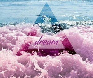 Dream, pink, and sea image