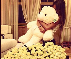couple, girl, and teddy image