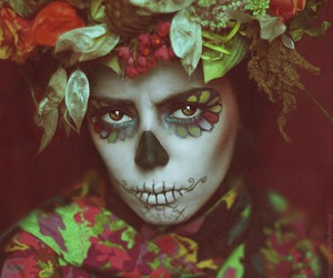 skull and woman image