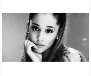 ariana grande, black and white, and problem image