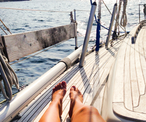 boat, happy, and legs image