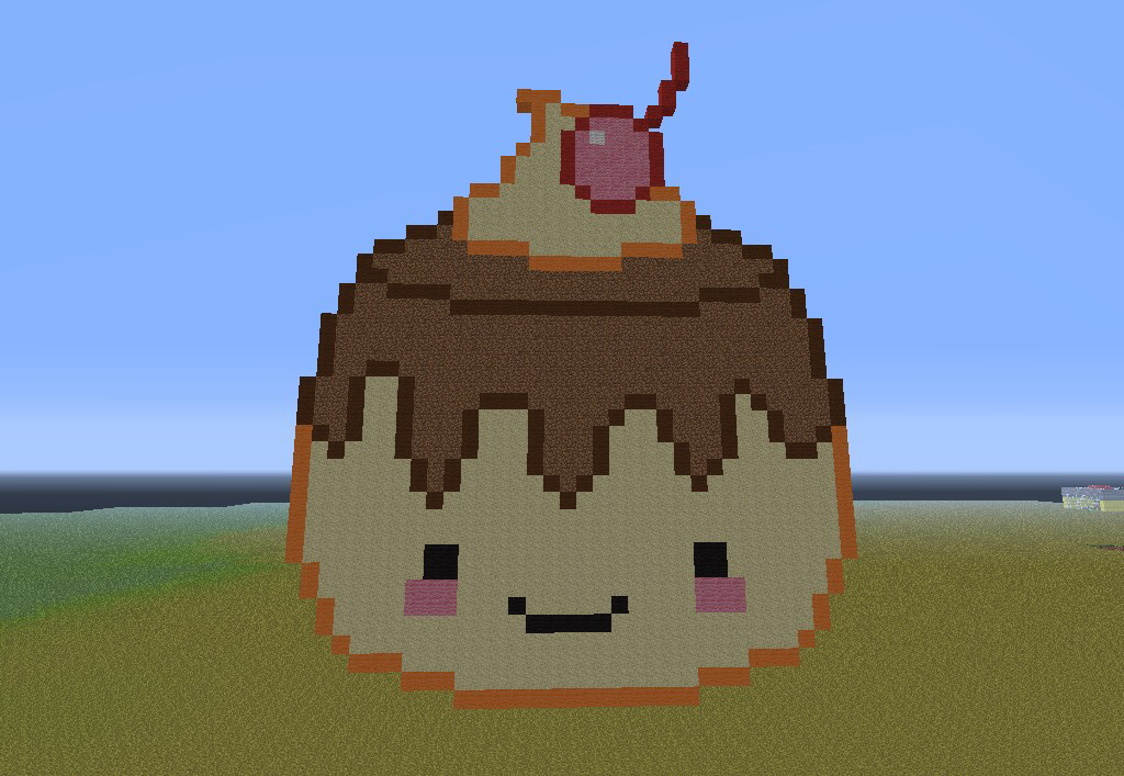 A Minecraft pixel art! This is such a kawaii (cute to ...