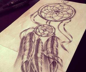 beautifull, dream catcher, and tatouage image