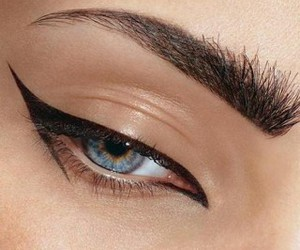 eye, make up, and blue image
