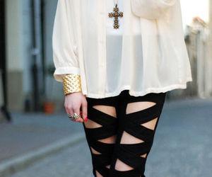 fashion, black, and cross image