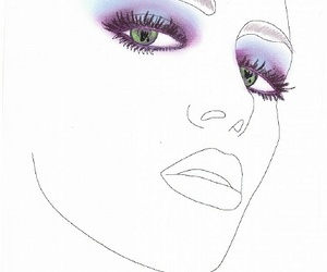 makeup, smokey eyes, and facechart image