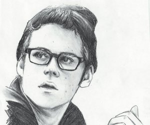 dylan o'brien, drawing, and teen wolf image