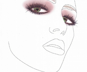 makeup, facechart, and max factor image