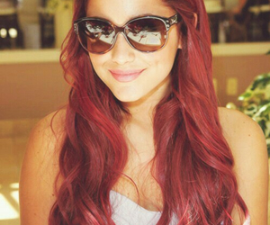 ariana grande, red hair, and smile image