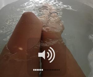 music, bath, and legs image