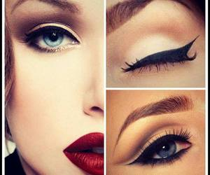 beautiful, make up, and red lips image