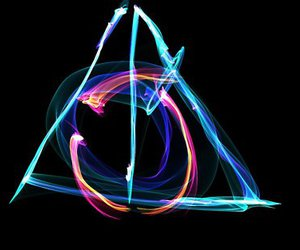 dark, deathly hallows, and harry potter image