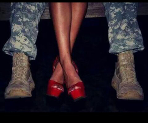 military, summer, and red passion image