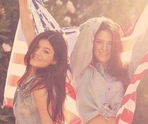 kendall jenner, kylie jenner, and usa image