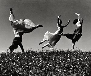 black and white, dance, and love image