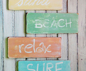 beach, sand, and relax image