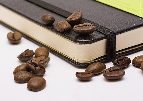 beans, book, and coffee image