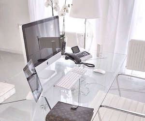 desk, house, and white image