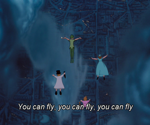 fly, disney, and peter pan image
