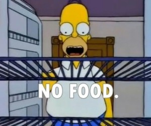 food, simpsons, and homer image