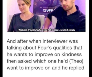 four, theo james, and real image