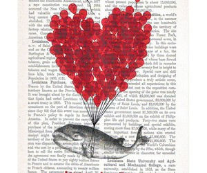 book, love, and balloon image