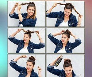casual, chignon, and hair image