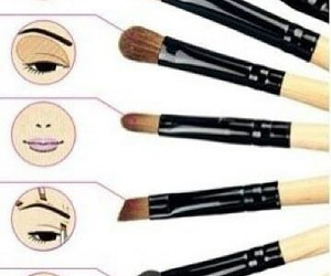 make-up, tuto, and pinceau image