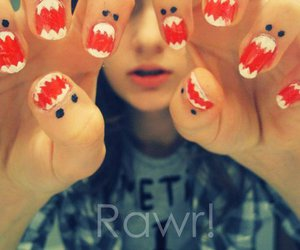 nails, rawr, and monster image