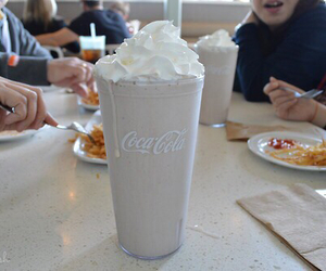 drink, coca cola, and food image
