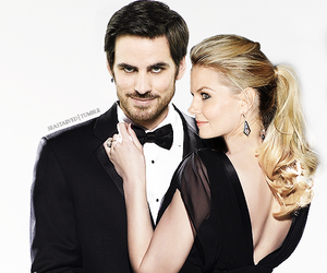 once upon a time, couple, and hook image