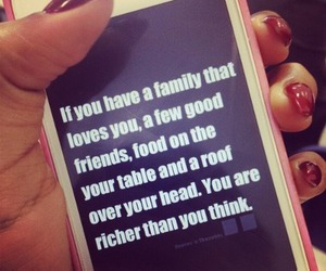 quote, family, and friends image