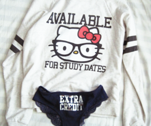 date, fashion, and hello kitty image