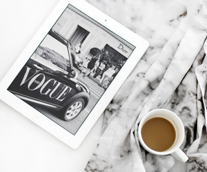 vogue, coffee, and fashion image
