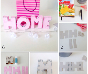 block letter, love, and diy image