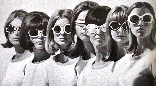 1960, 60s, and glasses image