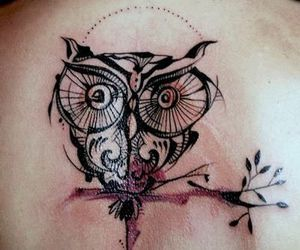 owl tattoos, tattoo ideas, and back tattoos image