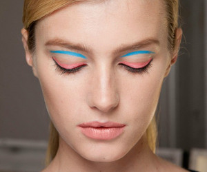 model, blue, and fashion image