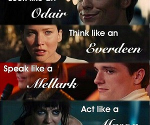 the hunger games, everdeen, and peeta mellark image