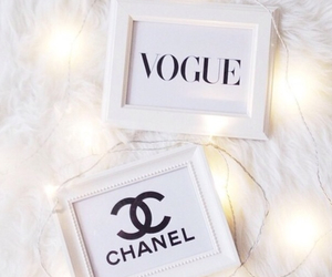 chanel, lights, and vogue image